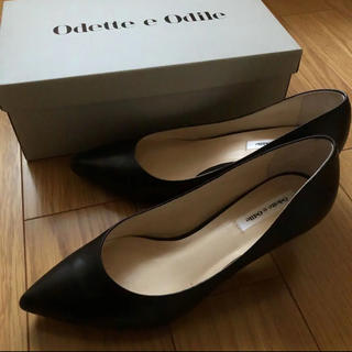 Odette e Odile - 美品★オデットエオディール パンプス ブラック 黒
