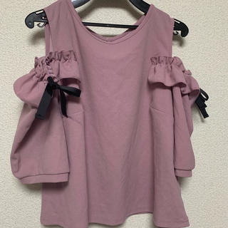 シマムラ(しまむら)のオープンショルダーカットソー(カットソー(半袖/袖なし))