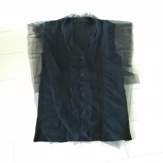 ディーホリック(dholic)の韓国 チュール付ノースリーブ(カットソー(半袖/袖なし))
