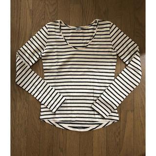 Cher - シェル ビアンカズクローゼット ラメ ボーダー ロングTシャツ