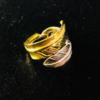 ゴローズ(goro's)の送料無料 大特価 ゴローズ 全金×シルバー ダブルフェザーリング  11号(リング(指輪))