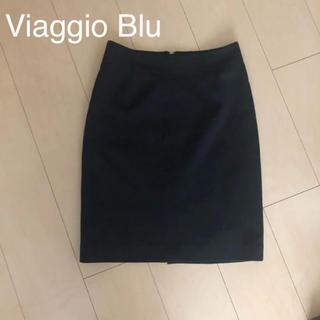ビアッジョブルー(VIAGGIO BLU)の【Viaggio Blu 】黒スカート タイトスカート(ひざ丈スカート)