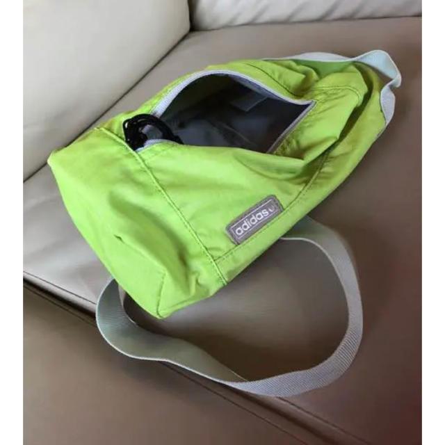 adidas(アディダス)のアディダス ワンショルダーバッグ黄緑 メンズのバッグ(ボディーバッグ)の商品写真