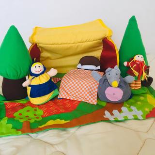 ボーネルンド(BorneLund)のボーネルンド 赤ずきんちゃんのハウス&指人形セット(ぬいぐるみ/人形)