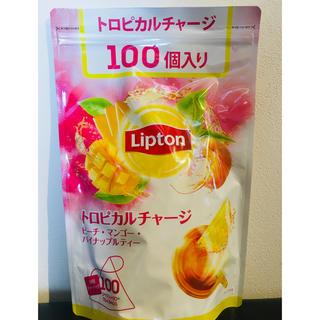 ユニリーバ(Unilever)のリプトン トロピカルチャージ 100個入り 未開封 大容量 コストコ(茶)