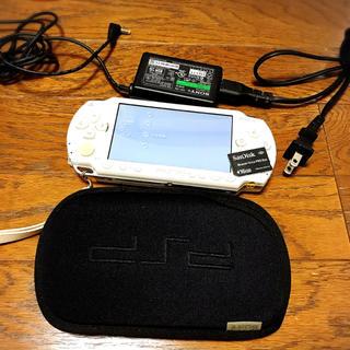 PlayStation Portable - 動作確認済み PSP-1000 本体 ホワイト メモリーカード 充電器 カバー