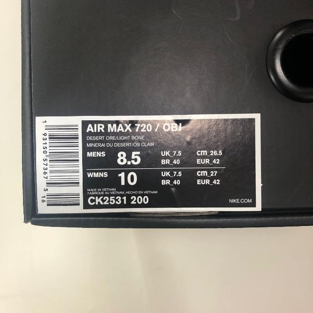 NIKE(ナイキ)のナイキ エアマックス 720 OBJ AIR MAX メンズの靴/シューズ(スニーカー)の商品写真