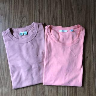 ユニクロ(UNIQLO)のユニクロTシャツ   2枚セット     L(Tシャツ(半袖/袖なし))