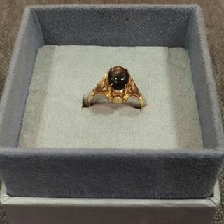 K18 ブラックスターサファイア リング(リング(指輪))