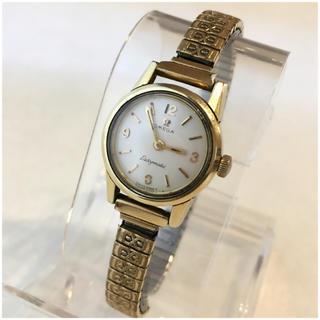 オメガ(OMEGA)のオメガΩレディマティック 白文字盤 自動巻き トゥモローランド(腕時計)