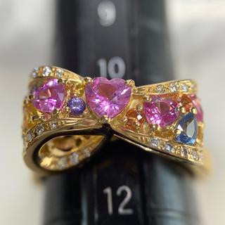 ポンテヴェキオ(PonteVecchio)のponte vecchio サファイア ダイヤモンド カラフル リボン リング(リング(指輪))