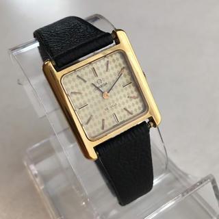 オメガ(OMEGA)のオメガΩデビル スクエア 装飾文字盤 純正尾錠 新品ベルト HIROB(腕時計)
