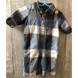 ベビーギャップ(babyGAP)のロンパース チェック 長袖 60 70(ロンパース)