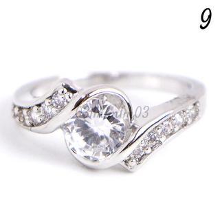 C24 リング9号 CZ ダイヤモンド サイドライン レディース(リング(指輪))