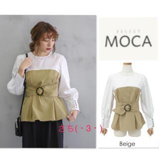 SELECT - select MOCA♡ベルト付♡バイカラー♡ペプラム♡ブラウス