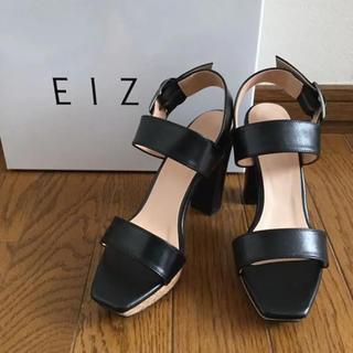 DIANA - 新品 EIZO エイゾー 本革 ブラック サンダル 23cm E レザー 日本製