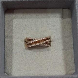 K18 ピンクゴールド ダイヤ リング(リング(指輪))