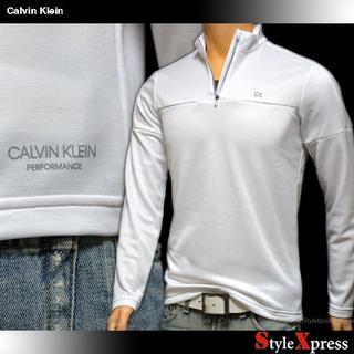 カルバンクライン(Calvin Klein)の新品 カルバンクライン 白 M L XL ハーフジップ トレーナー ロンT(スウェット)
