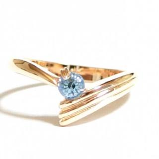 スワロフスキー(SWAROVSKI)の✨定価7380円✨★SWAROVSKI★ アクアマリン ピンクゴールド 指輪(リング(指輪))