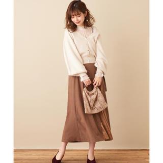 ナチュラルクチュール(natural couture)のプリーツ切り替えスカート(ロングスカート)