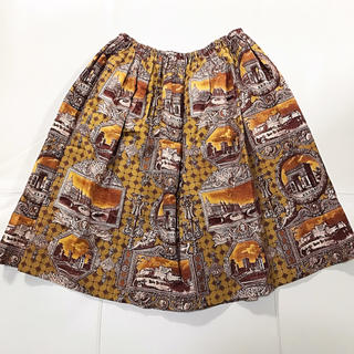 ジェーンマープル(JaneMarple)の風景柄スカート(ひざ丈スカート)