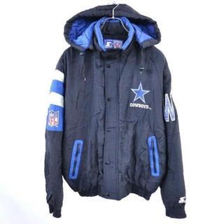 adidas - スターター NFL ダラスカウボーイズ 中綿ジャケット 黒×青×グレー (L)