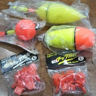 釣り道具    浮き3種類&フックカバー(釣り糸/ライン)