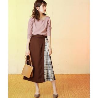 ナチュラルクチュール(natural couture)のサイドプリーツスカート(ロングスカート)