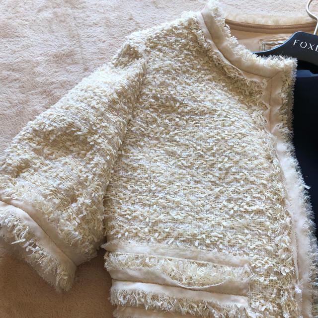 FOXEY(フォクシー)のフォクシーブティック豪華ツイードジャケット新品 レディースのジャケット/アウター(ノーカラージャケット)の商品写真