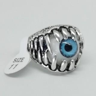 メンズ 目玉 青目 義眼 リング 指輪【ブルーアイ】us11号(リング(指輪))