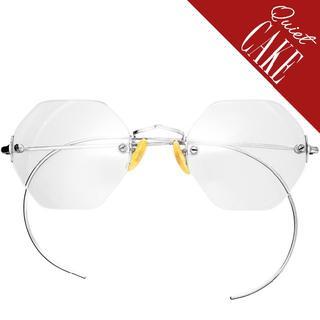 SALE!極美品! 40s USA ヴィンテージ 2ポイント 丸眼鏡 ラウンド(サングラス/メガネ)