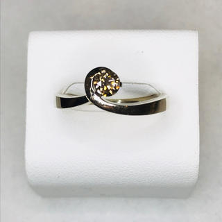 【カシケイ】k18 フロート ブラウンダイヤ リング(リング(指輪))