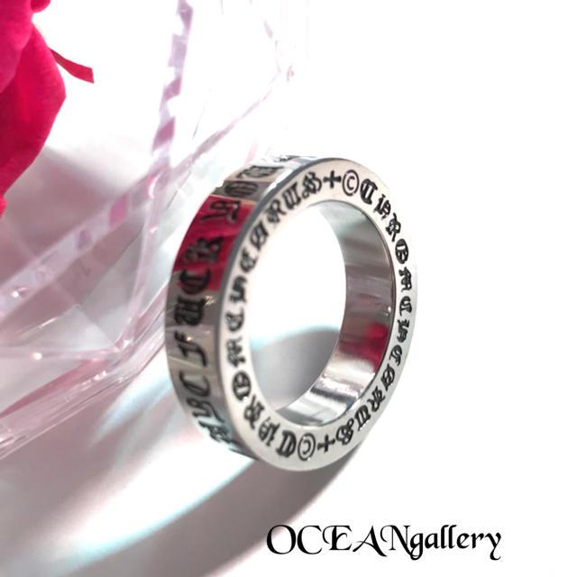 送料無料 12号 シルバーステンレスファックユークロス十字架スペーサーリング指輪 メンズのアクセサリー(リング(指輪))の商品写真