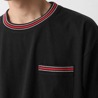 レイジブルー(RAGEBLUE)のRAGEBLUE リブラインドロップショルダーTシャツ(Tシャツ/カットソー(半袖/袖なし))