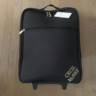 セシルマクビー(CECIL McBEE)の新品 セシルマクビー  キャリーケース 黒(スーツケース/キャリーバッグ)