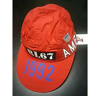 ポロラルフローレン(POLO RALPH LAUREN)のPOLO 1992  Stadium Long Bill  Cap Red 復刻(キャップ)