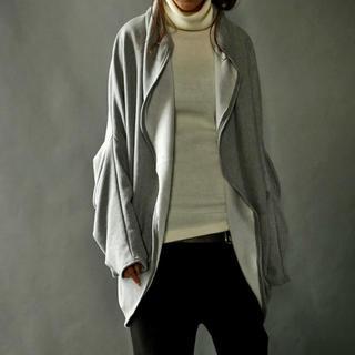 アンティカ(antiqua)のantiqua アンティカ ふわもこ ドルマン 羽織り コート グレー(ノーカラージャケット)