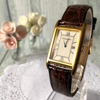 サンローラン(Saint Laurent)の【美品】Yves Saint Laurent 腕時計 スクエア ボーイズ 金(腕時計(アナログ))