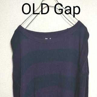 ギャップ(GAP)のUSA古着 90s OLD Gap オーバーサイズ ロンT カットソー ボーダー(Tシャツ/カットソー(七分/長袖))
