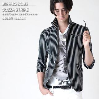 BUFFALO BOBS - buffalo bobs COZZA-STRIPE イタリアンカラージャケット