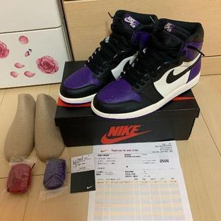 ナイキ(NIKE)のJORDAN1 Court Purple ナイキ ジョーダン1(スニーカー)