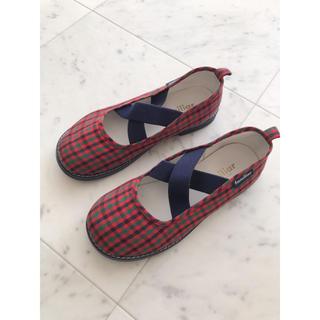 familiar - ファミリア 靴 スリッポン チェック 20センチ