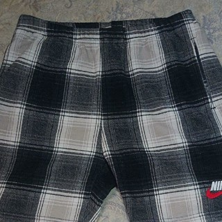 シュプリーム(Supreme)のSupreme Nike Plaid Sweatshort Black S (ショートパンツ)