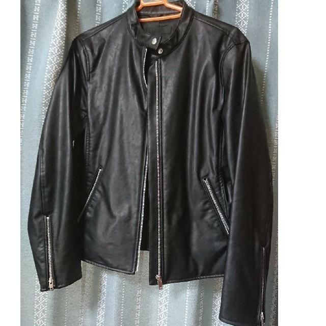 UNIQLO(ユニクロ)のお値下げ!UNIQLO ライダースジャケット シングル レディースのジャケット/アウター(ライダースジャケット)の商品写真