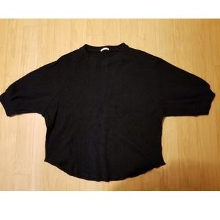 GU - GU ワッフルパフスリーブTシャツ