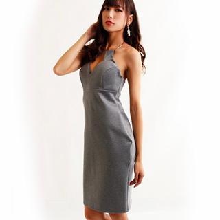 デイジーストア(dazzy store)のキャバドレス ゴールドリング付きミニドレス 新品(ミディアムドレス)