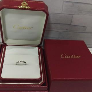 カルティエ(Cartier)のカルティエ Pt950 1Pダイヤリング ♯48(リング(指輪))