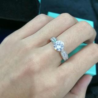 ティファニー(Tiffany & Co.)の極美品 リング(指輪) Tiffany & Co. ダイヤ 正規品 (リング(指輪))