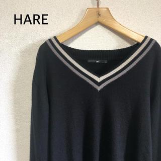 ハレ(HARE)のHARE ハレ ニット セーター ブラック(ニット/セーター)
