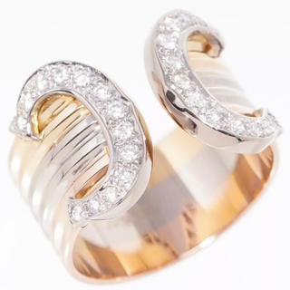 カルティエ(Cartier)のカルティエ K18YG/ 2C ダイヤモンドスリーカラー 指輪 ドゥーブルC52(リング(指輪))